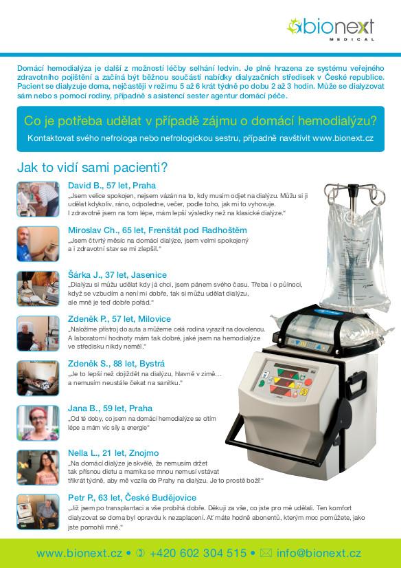 Letáček - Domácí hemodialýza